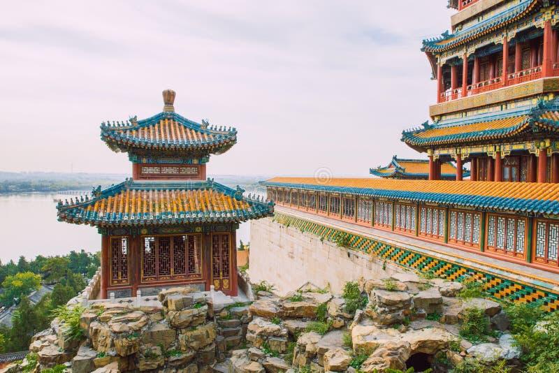 Pekin Kina, gatasikt arkivbilder