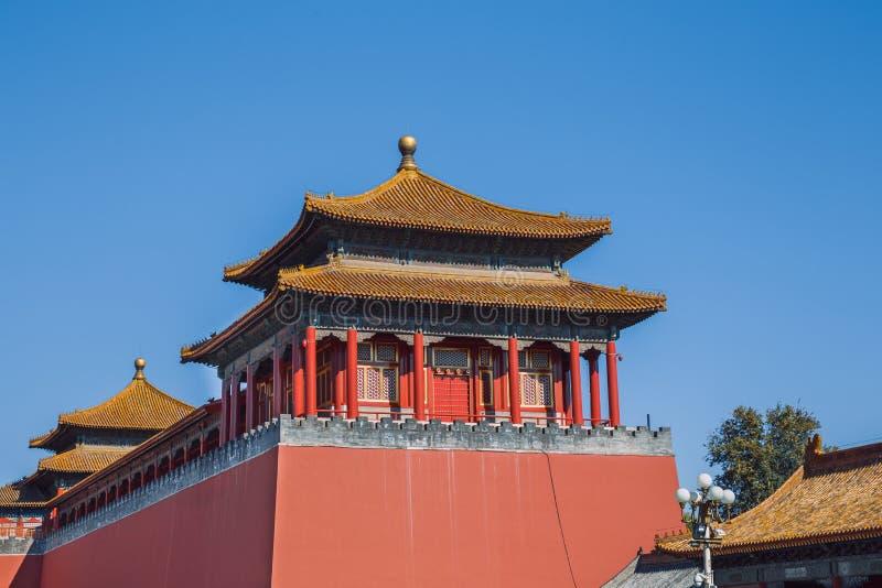 Pekin Kina, gatasikt royaltyfri bild