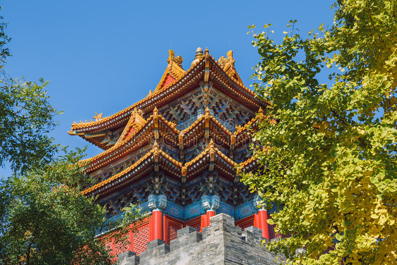Pekin Kina, gatasikt fotografering för bildbyråer