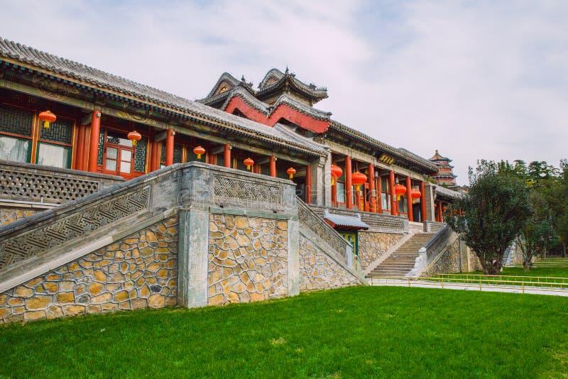 Pekin Kina, gatasikt arkivfoto