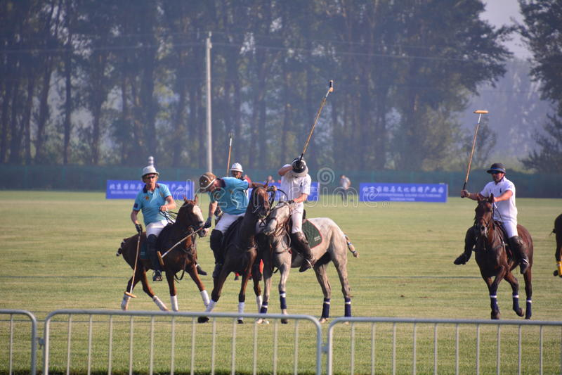 2016 Pekin Międzynarodowego polo Otwarty turniej obrazy stock