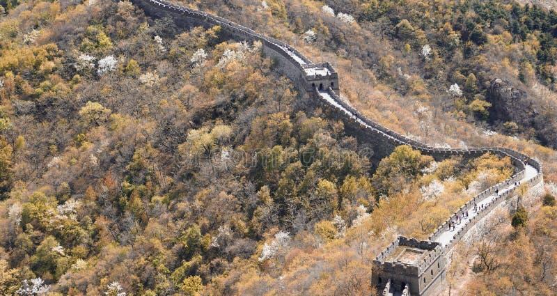Pekin Mutianyu wielki mur zdjęcie stock