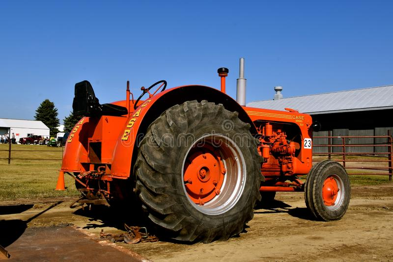 Antique Case diesel 500 tractor royalty free stock image