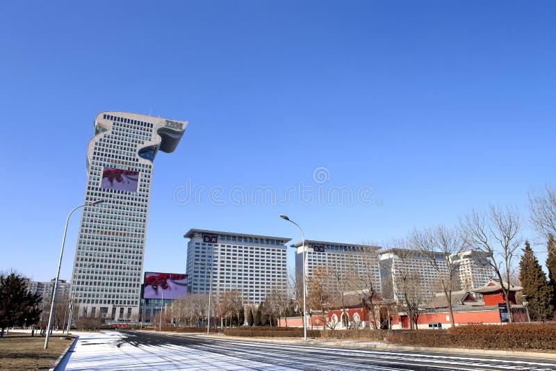 Pekin, nowożytna architektura, Pangu plac fotografia stock