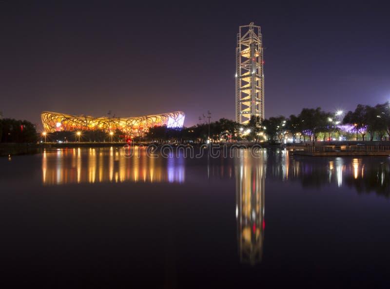 Pekin Olimpijski park, Chiny zdjęcia royalty free