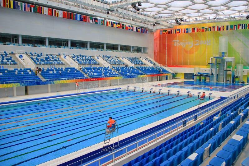 Pekin 2008 Olimpijskich Pływackich basenów zdjęcie royalty free