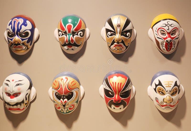 Pekin opery Twarzowe maski zdjęcia stock