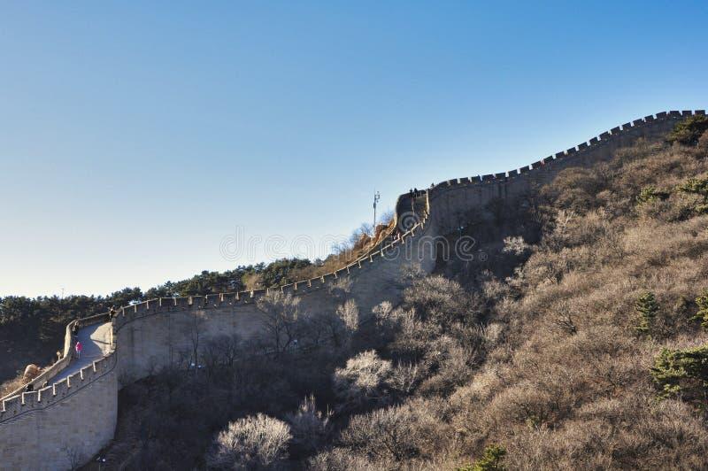 Pekin, Porcelanowy Listopad 18, 2017: Wielki mur Chiny, Badaling zdjęcie stock
