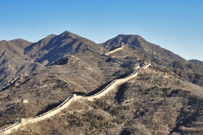 Pekin, Porcelanowy Listopad 18, 2017: Wielki mur Chiny, Badaling fotografia stock