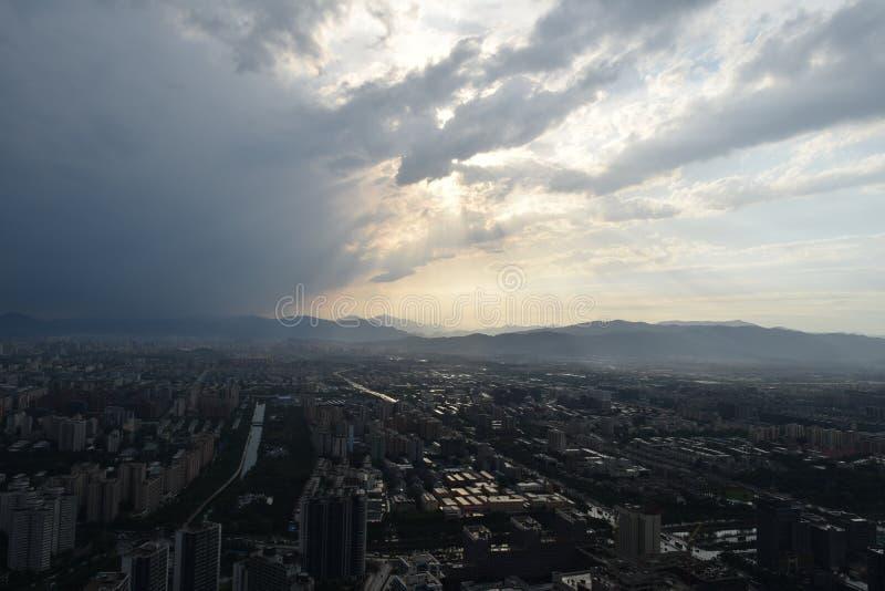 Pekin staci telewizyjnej widok zdjęcie royalty free