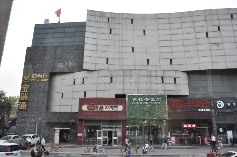 Pekin, 5th może: Nowożytny budynku centrum handlowego śródmieście Pekin kapitał Chiny obraz stock