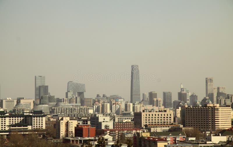 Pekin zanieczyszczenie powietrza obrazy royalty free