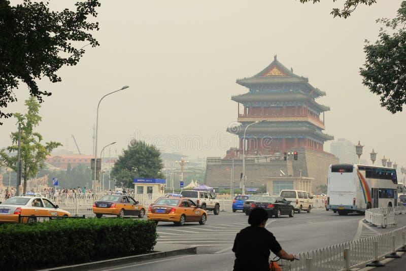 Pekin zanieczyszczenie powietrza zdjęcia stock