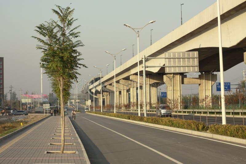 Pekin zanieczyszczenie powietrza fotografia stock