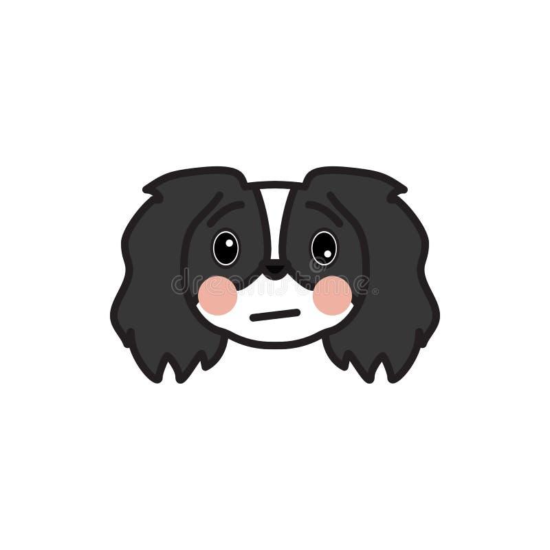 Pekines emoji, sjuk mångfärgad symbol Tecknet och symbolsymbolen kan användas för rengöringsduken, logoen, den mobila appen, UI U royaltyfri illustrationer