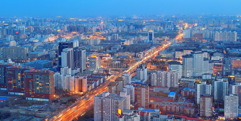 Peking bij nacht royalty-vrije stock foto's