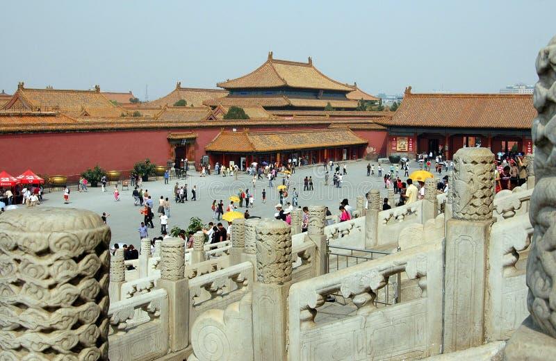 Peking, China: Die verbotene Stadt stockbild