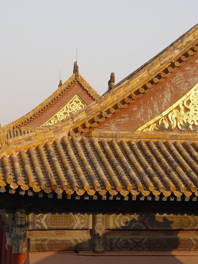 Peking China - glühendes Dach lizenzfreies stockbild