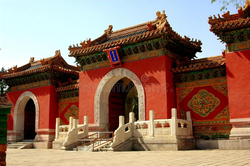 Peking, China: Himmlischer König Hall Entry Gate lizenzfreies stockbild