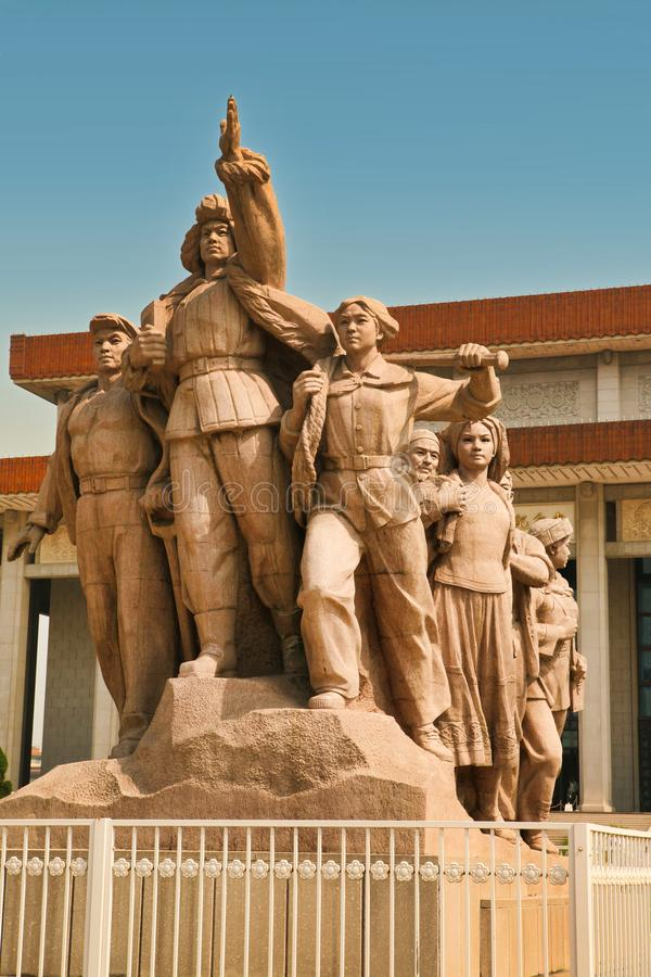 Peking China 06 06 Monument 2018 vor Maos Mausoleum auf Tiananmen-Platz stockfotografie