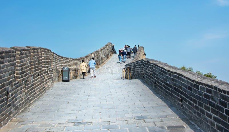 PEKING, CHINA, 29 SEPTEMBER, 2016: Toeristen die op Grea lopen royalty-vrije stock foto's