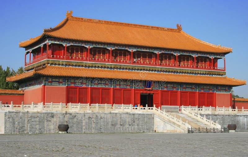 Peking, China - verbotener Stadt-Palast lizenzfreies stockfoto