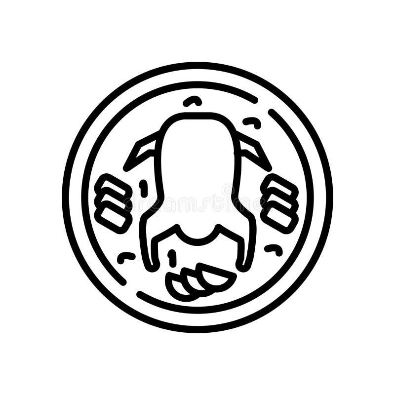 Peking-Entenikonenvektor lokalisiert auf weißem Hintergrund, Peking-Entenzeichen lizenzfreie abbildung
