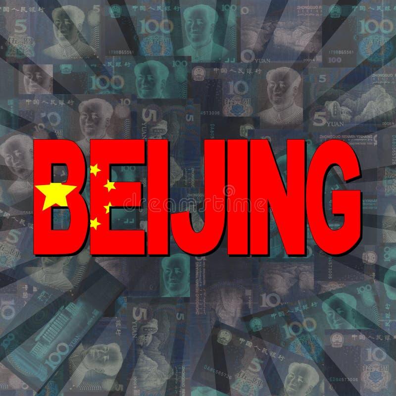 Peking-Flaggentext auf Yuan-Explosionsillustration lizenzfreie abbildung