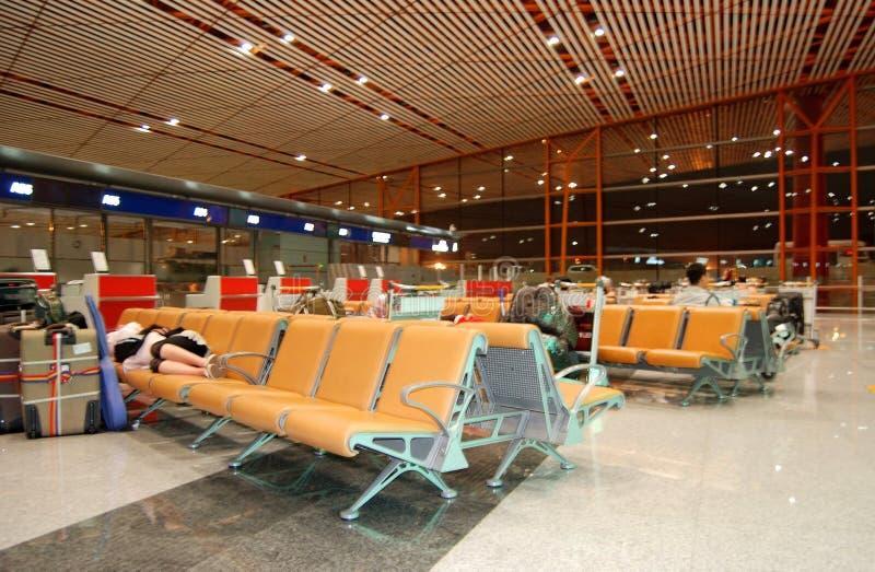 Peking-Flughafen, China. lizenzfreie stockbilder