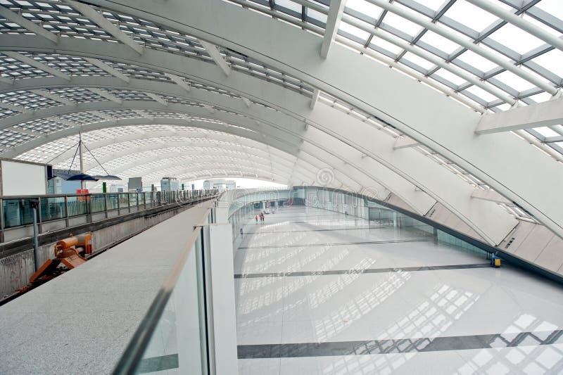 Peking-Flughafen-Terminalstahl stockfotos