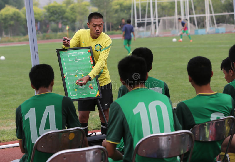 Peking Guoan-großes Dragon Cup 2014 stockfotos