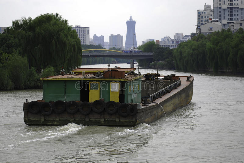 Peking-Hangzhouen Grand Canal royaltyfria bilder