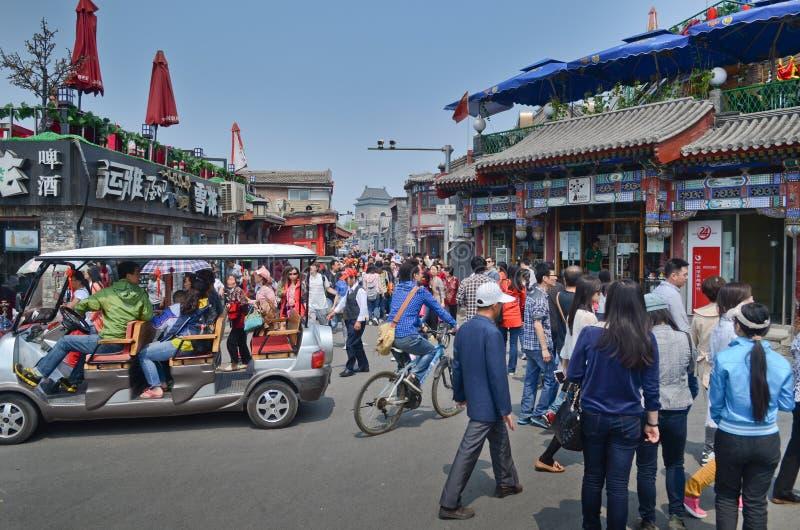 Peking-hutong Straße stockfoto