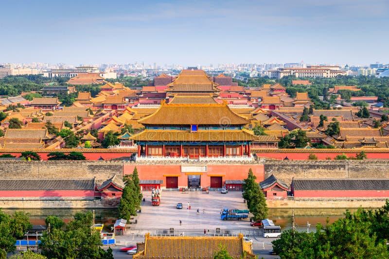 Peking Kina Forbidden City royaltyfri bild