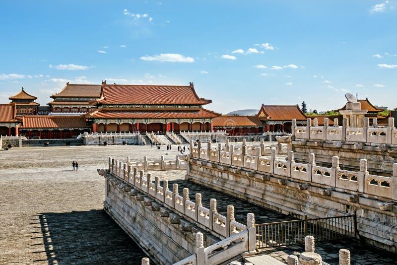 PEKING - KINA, MAJ 2016: Forbiddenet City royaltyfria foton