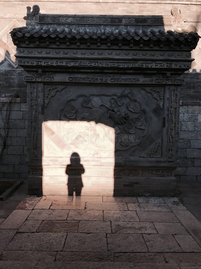 Peking kinesisk arkitektur, fotografering för bildbyråer