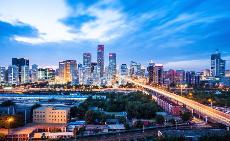 Peking nach Sonnenuntergang lizenzfreie stockbilder