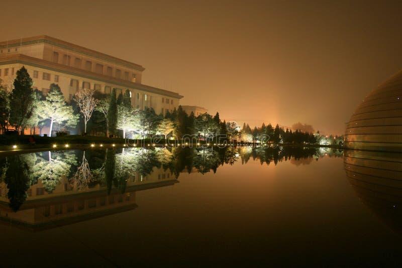 Peking nachts, China lizenzfreies stockbild