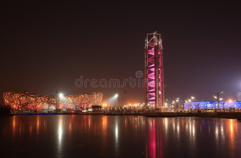 Download Peking-Nachtszene redaktionelles stockfotografie. Bild von modern - 12201762