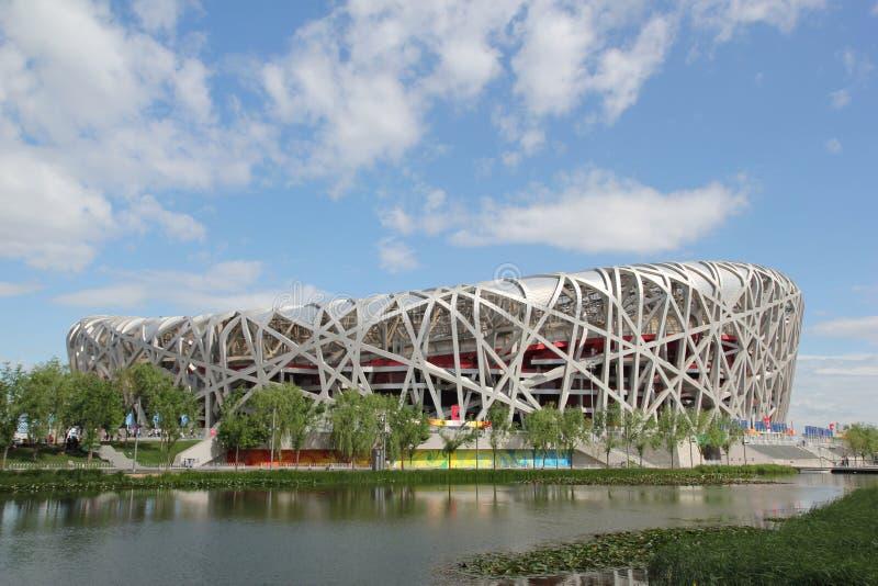 Peking-nationales olympisches Stadion/Nest des Vogels lizenzfreie stockfotos