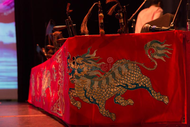 Peking opera actor`s stage props.  stock photography