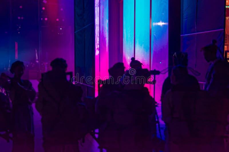 Peking Opera de bastidores fotografia de stock