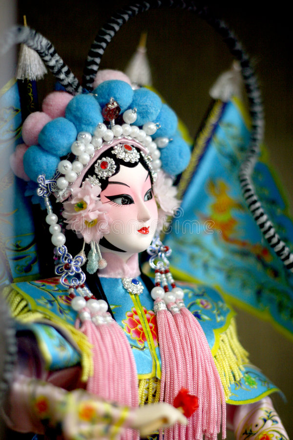 Peking opera doll close up royalty free stock photos
