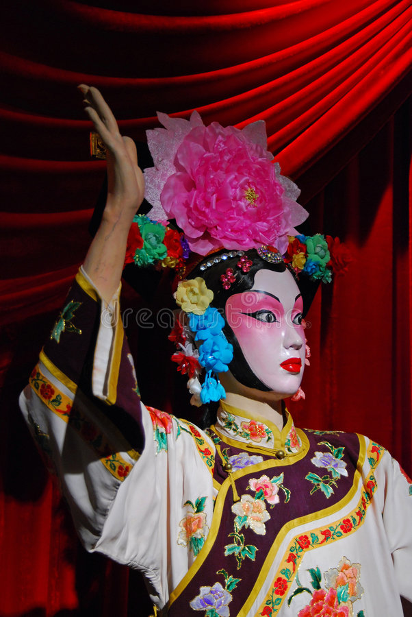 Peking opera puppet royalty free stock photo