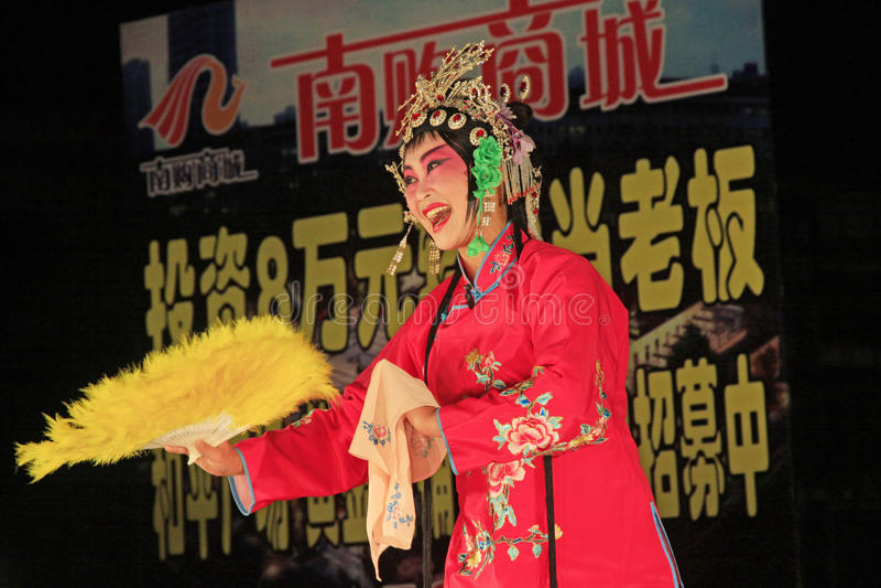 Peking-Opernleistung noch stockfoto
