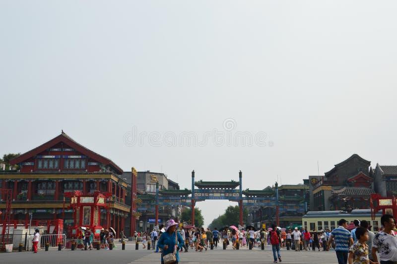 Peking Qianmen stockfotografie