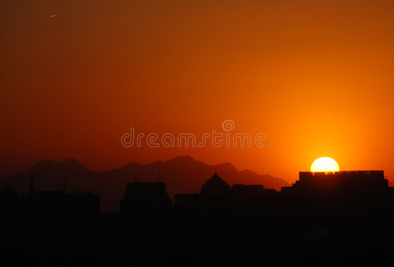 Peking-Sonnenuntergang lizenzfreies stockfoto
