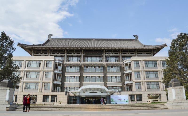 Peking universitetarkiv arkivbild