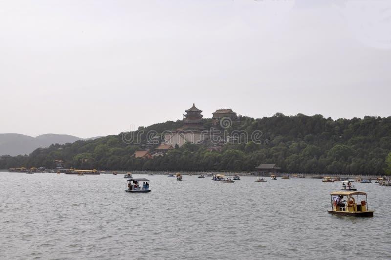 Peking, vijfde kan: De zomerpaleis op Kunming-Meerkust in Peking royalty-vrije stock afbeeldingen