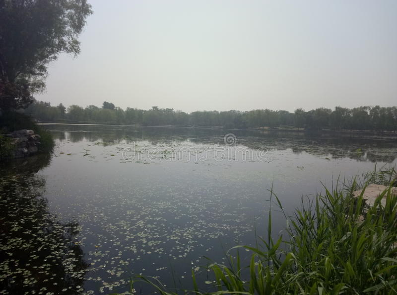 Peking Yuanmingyuan parkerar arkivbilder